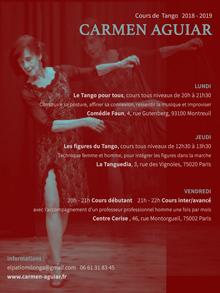 Cours de Tango avec Carmen Aguiar